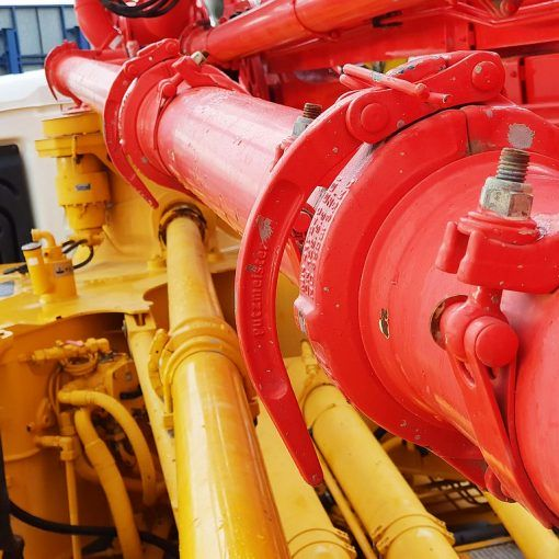 The use of lever couplings in pipelines for concrete pumping 01