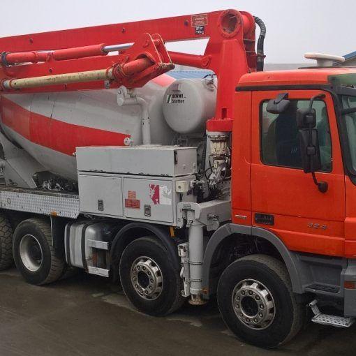 Truck mixer concrete pumps 01